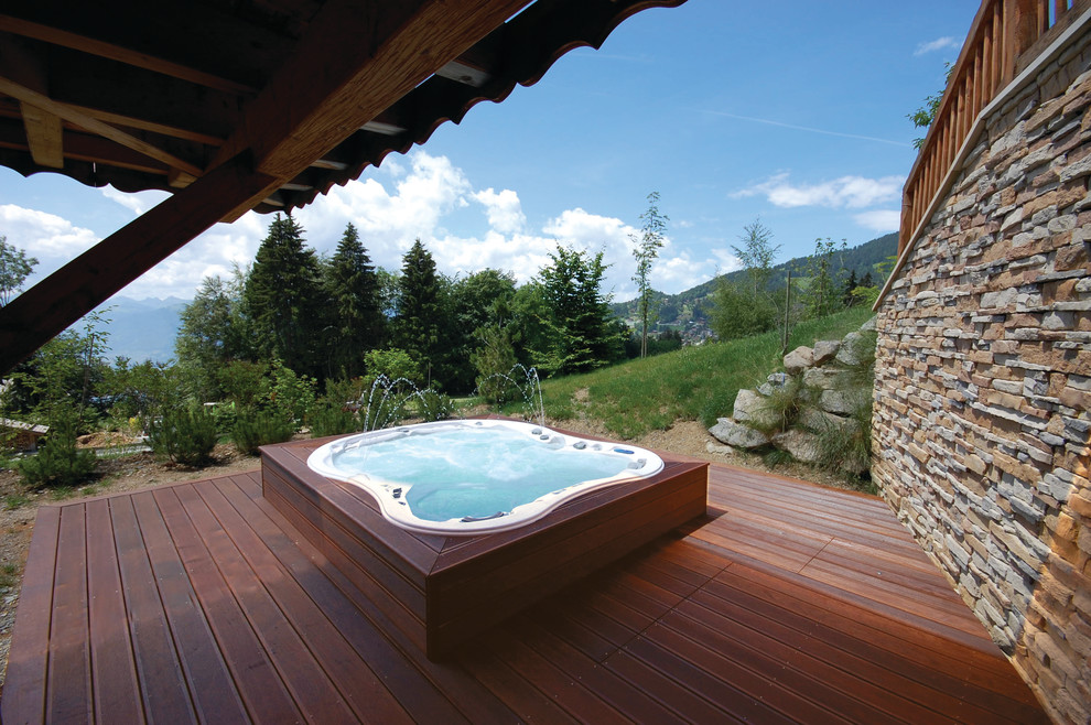 Portable Jacuzzi Deck Contemporary with Backyard Deck Fountain Home Spa Hot Tub Hot Tubs Portable Hot Tub