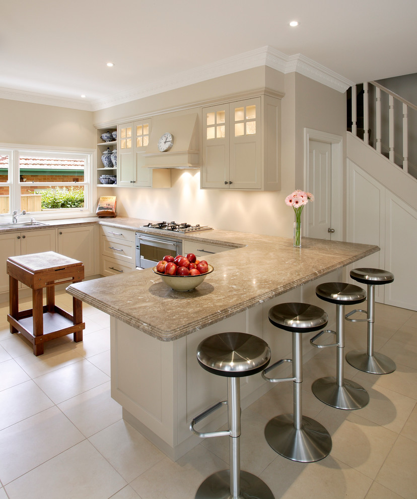 Portable Kitchen Islands Kitchen Transitional with Bar Stool Beige Cabinets Beige Counter Beige Countertop Beige Kitchen Cabinets Beige