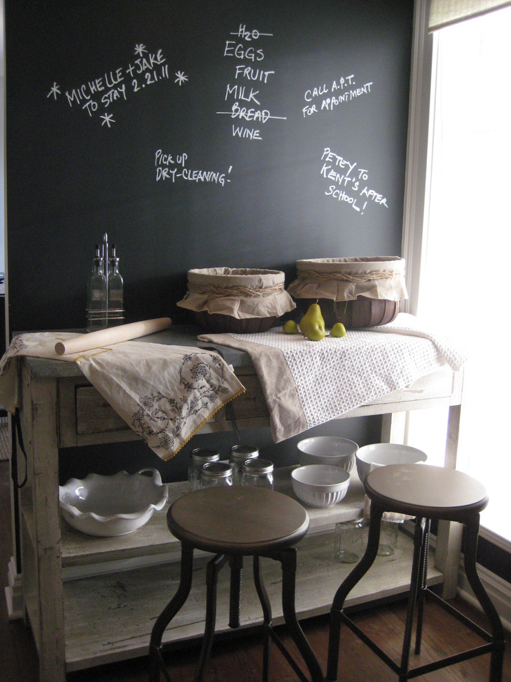 Potters Bench Kitchen Eclectic with Baskets Black Chalkboard Paint Industrial Bar Stools Kitchen Island Linens Potters Bench
