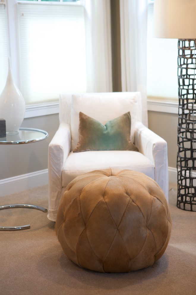 Pouf Ottoman Bedroom Contemporary with None