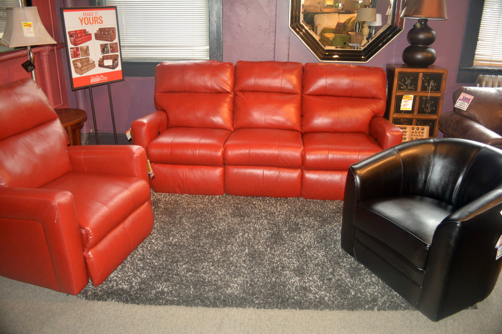 Power Reclining Sofa Spaces with Black Swivel Chair Grey Rug Power Recliner Power Reclining Sofa Red Leather