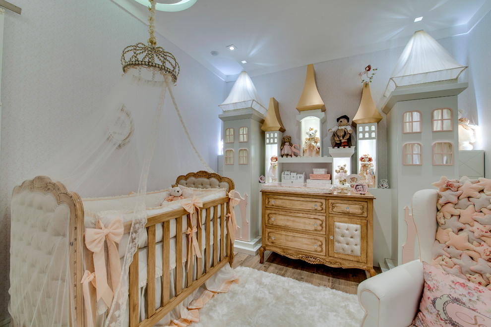 Princess Wall Decals Nursery Traditional with Canopy Bed Castle Crib Bedding Crown Girls Bedroom Girls Room Nursery Ornate