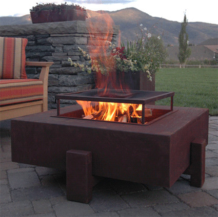 Propane Fire Pit Patio Contemporary with Fire Pit Modern Natural Gas Propane Steel Wood