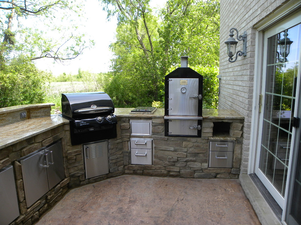 Propane Smokers Patio Eclectic with Granite Grill Smoker Stainless Steel