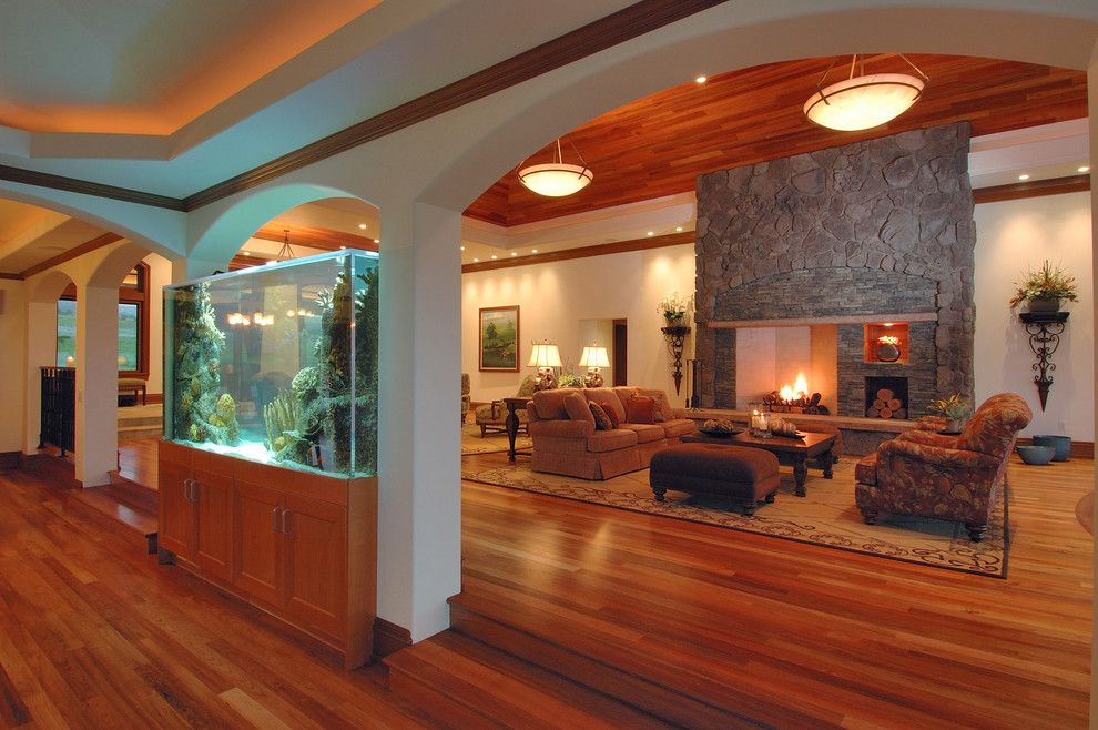 Propane Tank Cover Living Room Contemporary with Aquarium Arched Doorways Ceiling Lighting Container Plants Cove Lighting Fireplace Accessories Fireplace