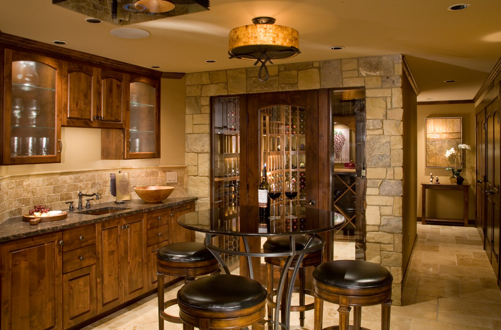 Pub Table and Chairs Home Bar Traditional with Bar Sink Beige Drum Pendant Beige Wall Bistro Table Design Glass Cabinets
