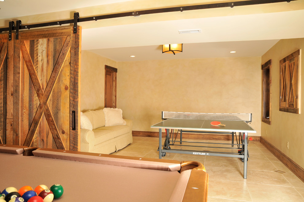Pull Out Couches Basement Traditional with Barn Style Wood Doors Flex Space Guest Bedroom Ping Pong Table Pull