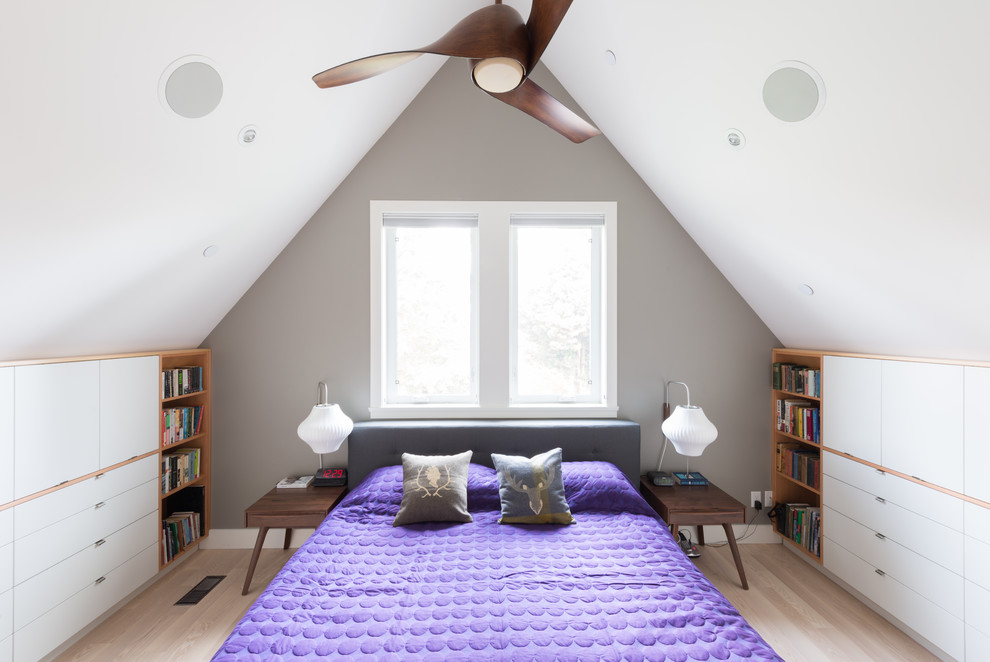 Purple Comforter Bedroom Contemporary with Addition Ash Flooring Bathroom Bungalow Catalina Tables Ceiling Fan Dot Blanket Douglas