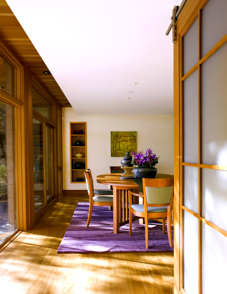 Purple Comforter Sets Dining Room Modern with Area Rug Built in Shelves Ceiling Lighting Drop Ceiling Earth Tone Colors