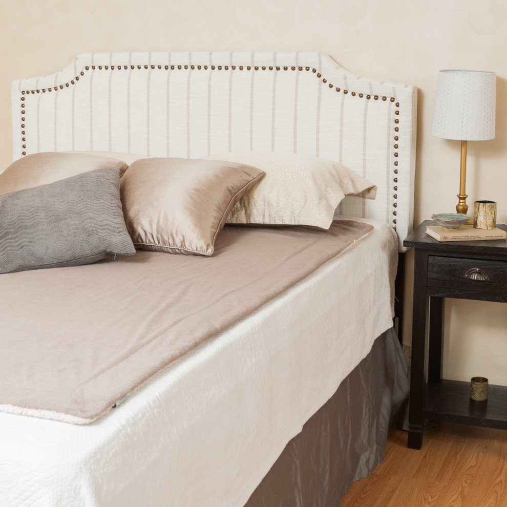 queen bed headboard Bedroom Contemporary with contemporary bedroom elegant for queen sized beds striped beige headboard studded accent