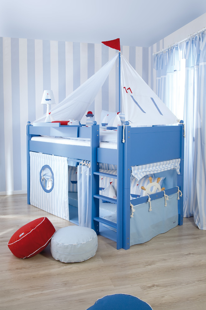 Queen Captains Bed Kids Beach with Bunk Bed Coastal Coastal Bedding Cool Bed Cool Boy Bedroom Idea Ideas