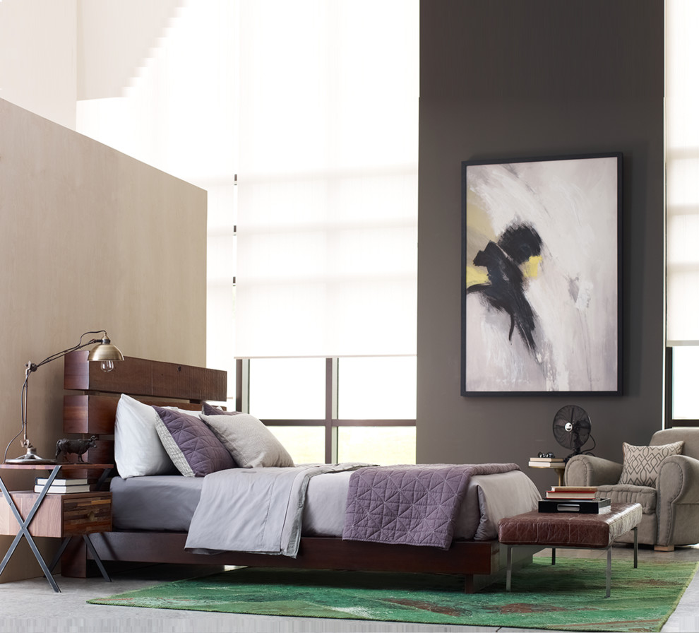 Queen Platform Bed Frame Bedroom Eclectic with None
