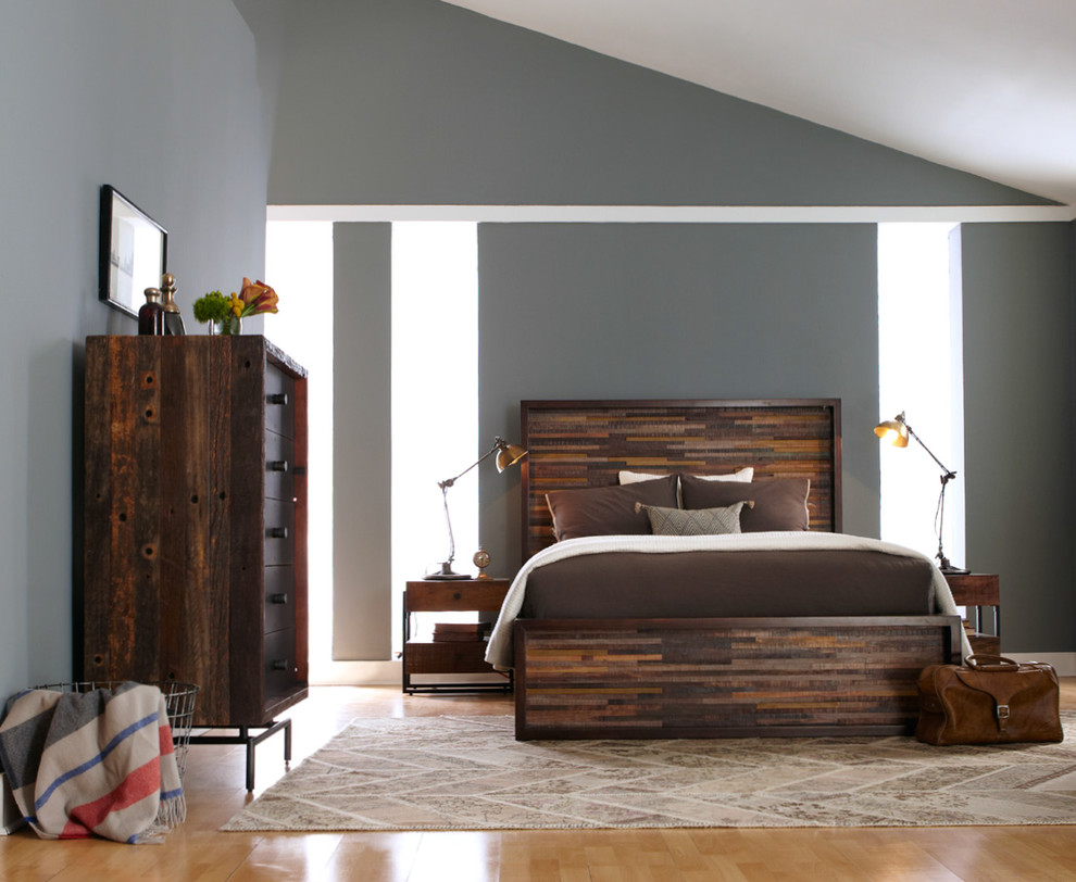 Queen Platform Bed Frame Bedroom Farmhouse with None