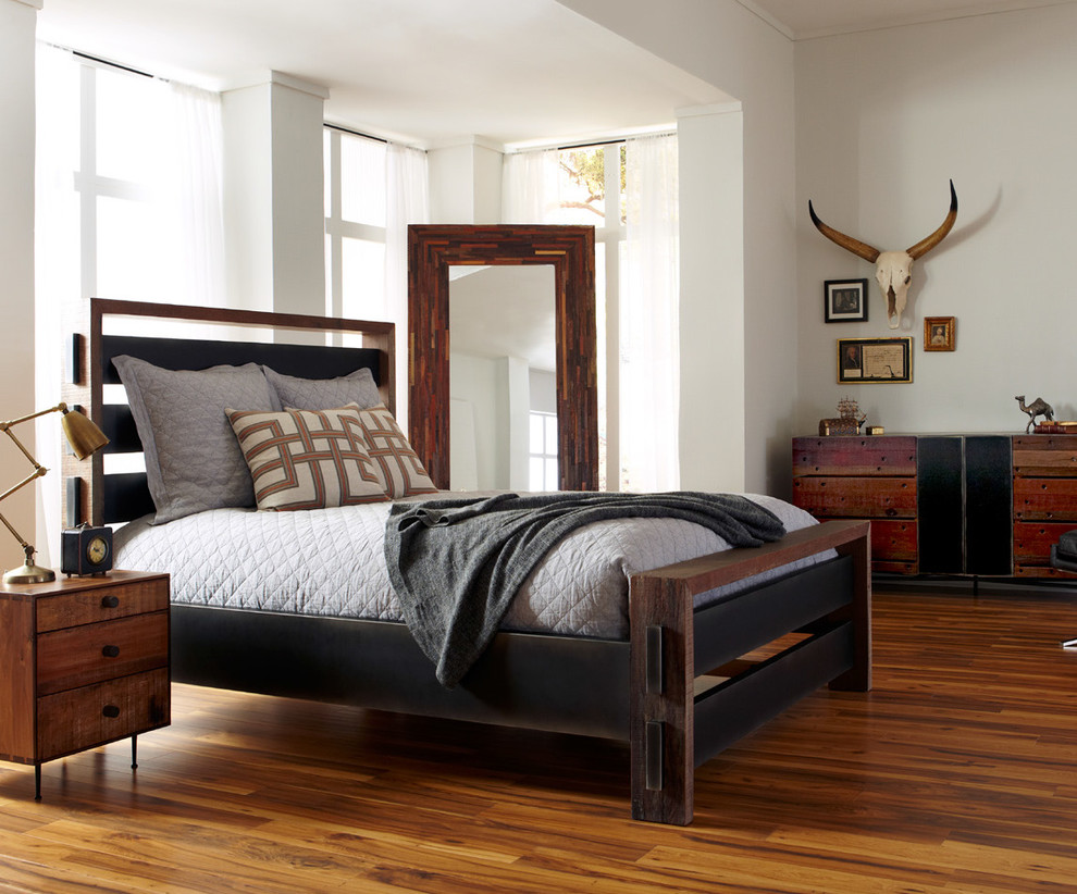 Queen Platform Bed Frame Bedroom Industrial with None 1