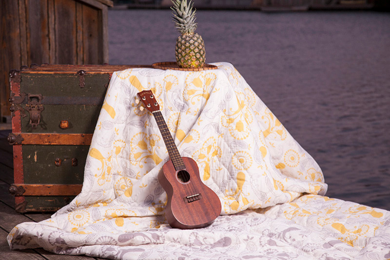 queen size quilts Spaces with Cotton Quilts - Yellow Bedding - Hand Block Printed from Att Hand