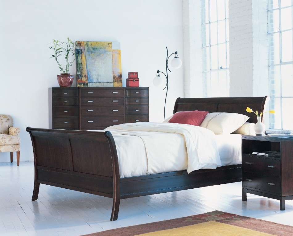 Queen Sleigh Bed Bedroom Modern with Bedroom Modern Stickley 1