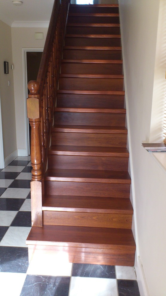 Quick Step Flooring Staircase Traditional with Quick Step Laminate Flooring on Stairs
