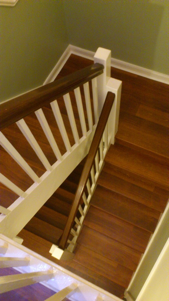 Quick Step Laminate Staircase Traditional with Quick Step Laminate Flooring on Stairs