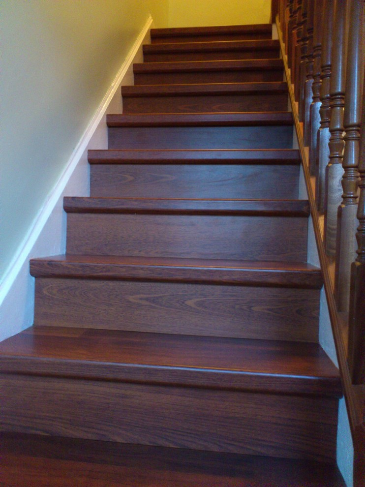 Quick Step Laminate Staircase Traditional with Quick Step Laminate Flooring on Stairs 1