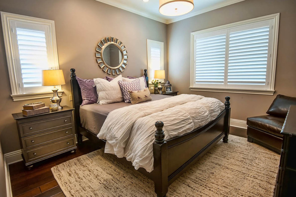 Quilted Throws Bedroom Traditional with Dark Wood Flooring Dark Wood Floors Laminate Staircase Wood Floors