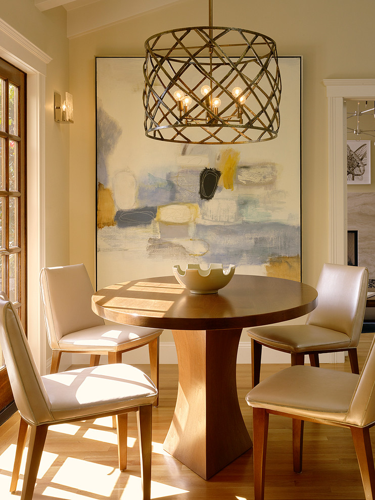 Quoizel Dining Room Transitional with Art Breakfast Room Chairs Chandelier Contemporary Custom French Doors Leather Modern Painting