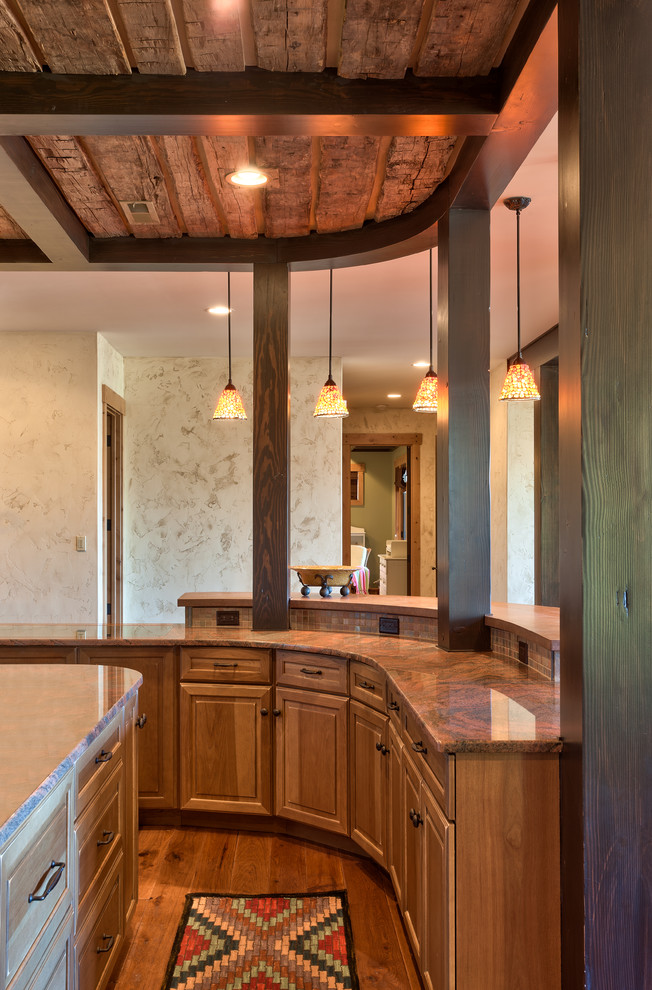 Quoizel Lighting Kitchen Traditional with Bar Barn Wood Beams Custom Custom Stair Case Design Furniture Piece Glass