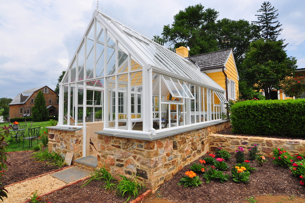 Rachel Ray Cookware Garage and Shed Traditional with Conservatory Glass Roof Flower Bed Grass Greenhouse Roof Hartley Botanic Greenhouse Mulch