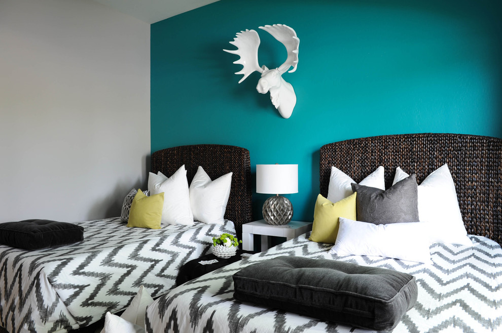 Rattan Headboard Bedroom Contemporary with Ceramic Head Chandler Arizona Interior Design Chandler Arizona Luxury Interior Design Chandler
