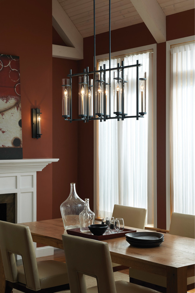 Ready to Assemble Furniture Dining Room Transitional with Dining Room Chandelier Iron Pendant Linear Pendant