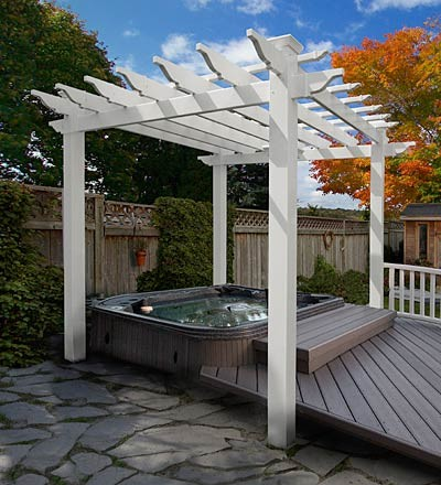 Ready to Assemble Furniture Spaces Traditional with Backyard Pergola Pergola Rafter Tails Traditional Pergola White Pergola