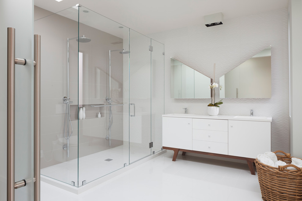 Recessed Medicine Cabinet Bathroom Contemporary with None