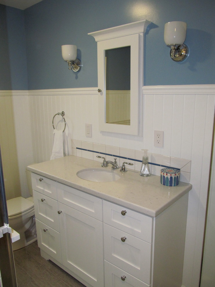 Recessed Medicine Cabinets Bathroom Traditional with Bathroom Cabinets Bathroom Designs Bathroom Remodel Bathroom Remodeling Blue Tile Backsplash Blue