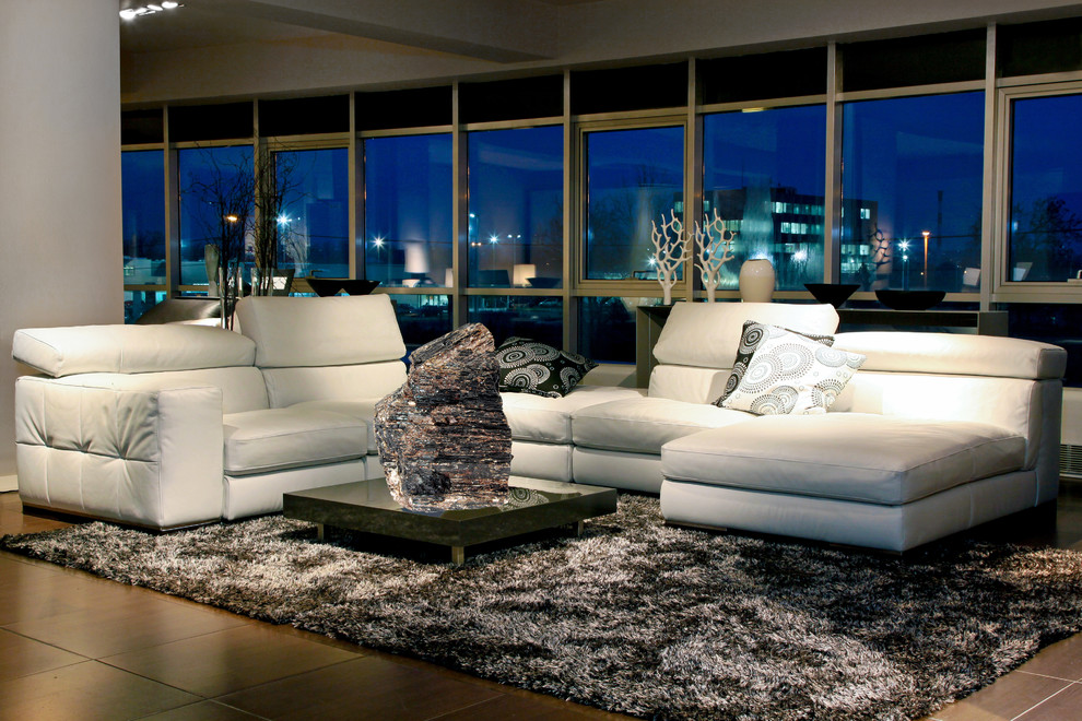 Reclining Couch Living Room Contemporary with Mineral Specimen Natural Materials Natural Mineral Decor Stones Tourmaline