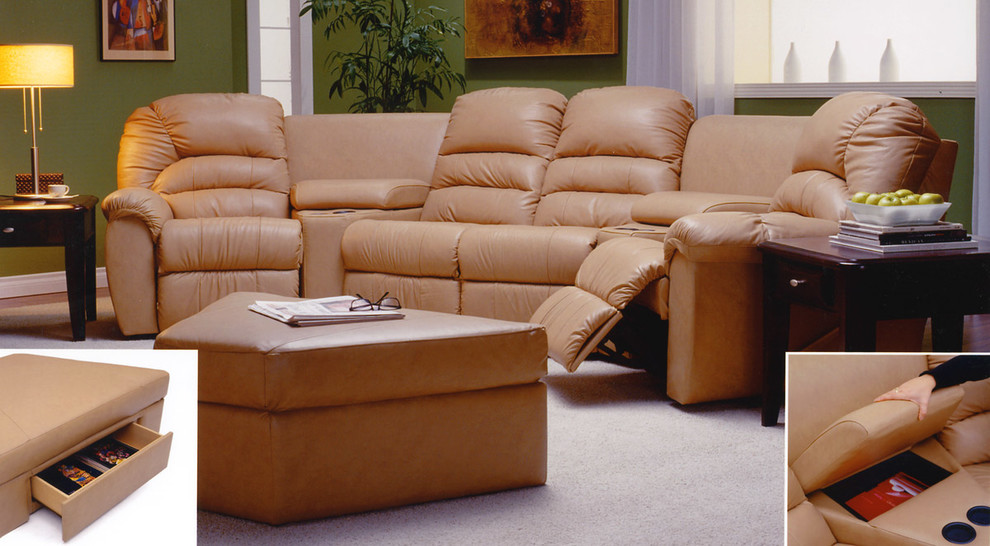 Reclining Sectional Sofas Home Theater Transitional with Black Leather Recliner Custom Leather Furniture Home Theater Leather Furniture Home Theater