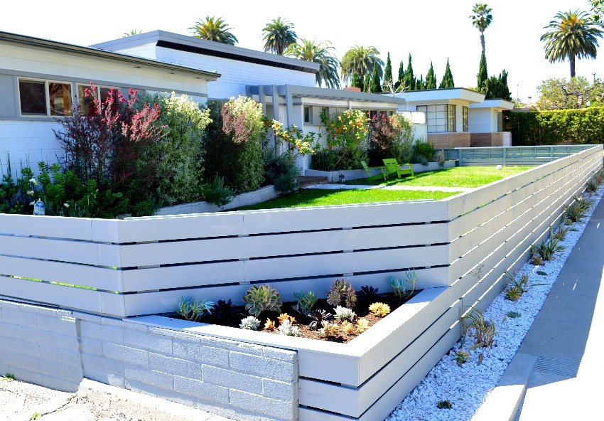 Reclining Sectional Sofas Landscape Contemporary with Brentwood Contemporary Culver City Entry Gate Hand Crafted Handmade Horizontal Locking Los