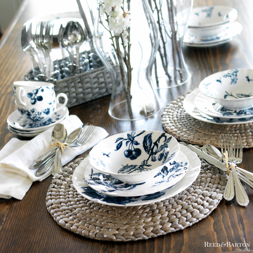 reed and barton silverware Dining Room Beach with bowls flatware indoor table setting indoor-outdoor outdoor table setting plates summer summer