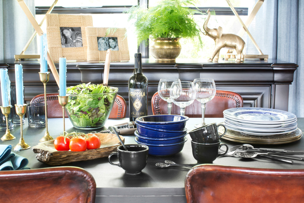 Reed and Barton Silverware Dining Room Eclectic with Brian Patrick Flynn Dining Room Formal Dining Mountain Mountain Home Tablescape 1