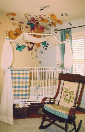 Rocking Chair Pads Kids Traditional with Area Rug Bed Canopy Boy Crib Curtain Girl Nursery Rocking Chair Unisex