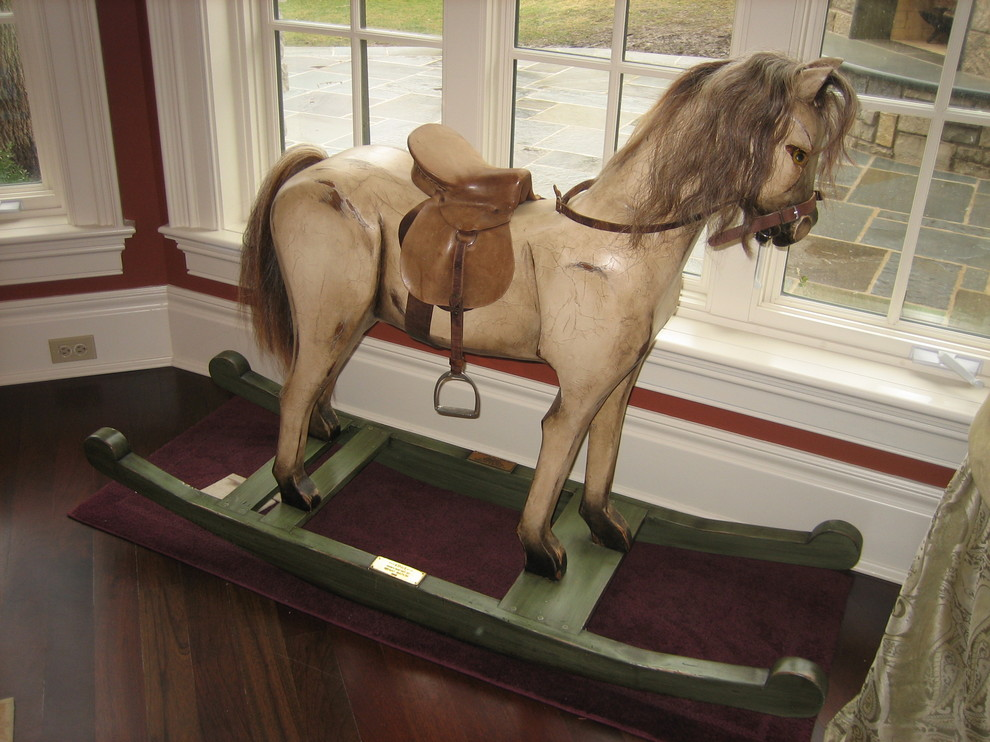 Rocking Horses Kids Traditional with Animal Antiqued Art Cabinetry Cottage Custom Decorative Painting Distressed Farm Furniture Glazed