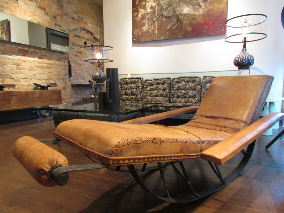 Rocking Recliner Living Room Industrial with None 1