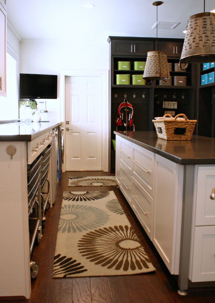 Rolling Laundry Cart Laundry Room Transitional with Industrial Laundry My Houzz Organization Organized
