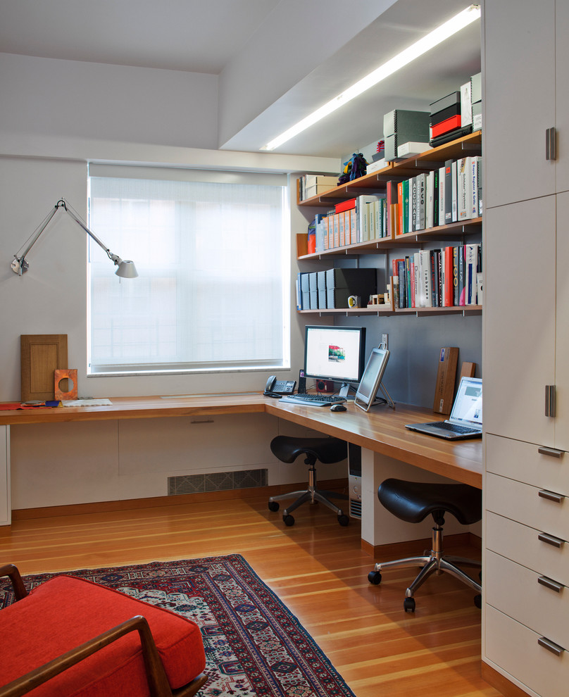 Rolling Stool Home Office Contemporary with Area Rug Open Shelves Red Chair Cushion Roller Blind Rolling Black Stools