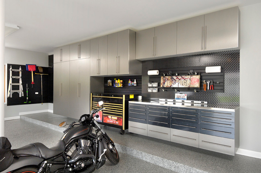 Rolling Tool Boxes Garage and Shed Contemporary with Garage Cabinets Garage Enhancement Garage Makeover Garage Organization Garage Renovation