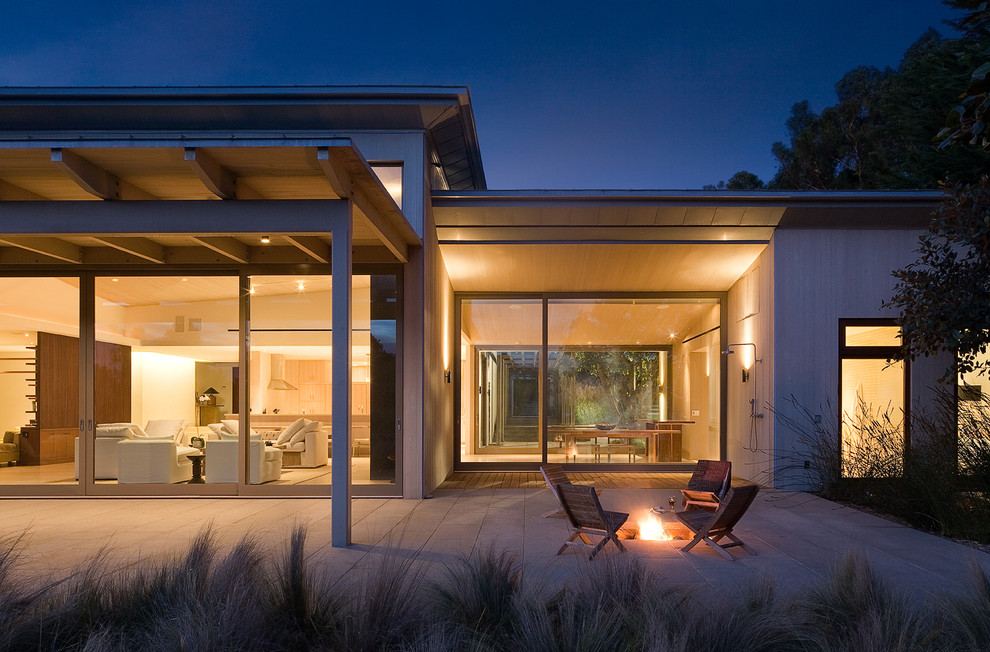 Rolling Tool Boxes Patio Contemporary with Beach House Bleached Wood Fire Pit Framed View Indoor Outdoor Outdoor Seating