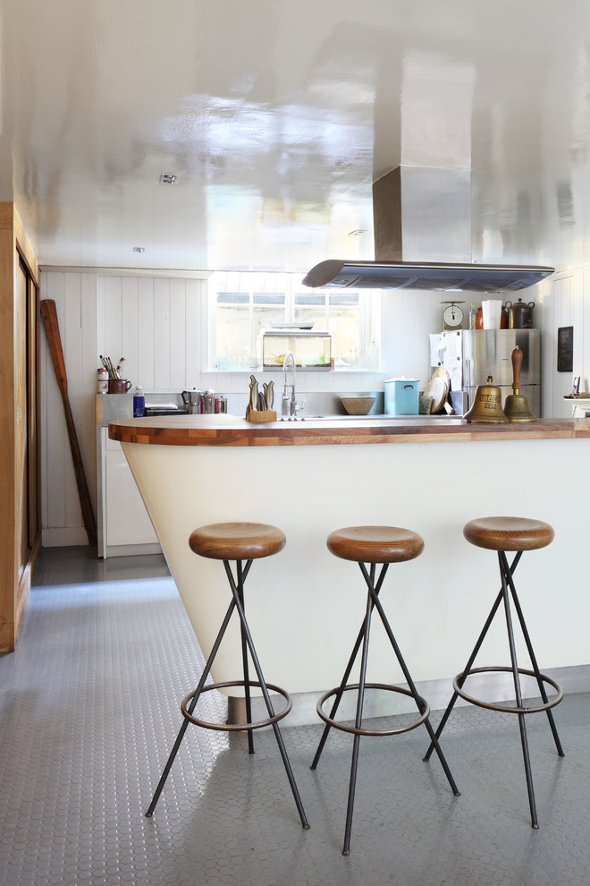 Rubber Spatula Kitchen Eclectic with Bespoke Bright Danish Modern Bar Stool Renovation Retrofit Tile Floor Vent Window