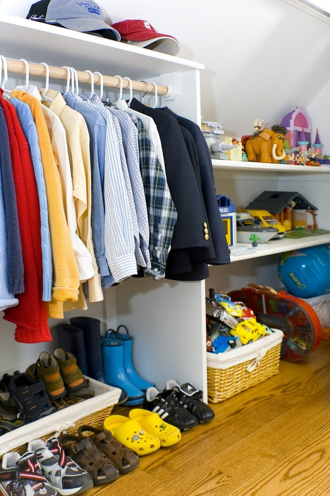 Rubbermaid Closet Design Closet Contemporary with Baskets Bedroom Childrens Closet Hanging Rod Kids Shelves Storage White Wall Wood