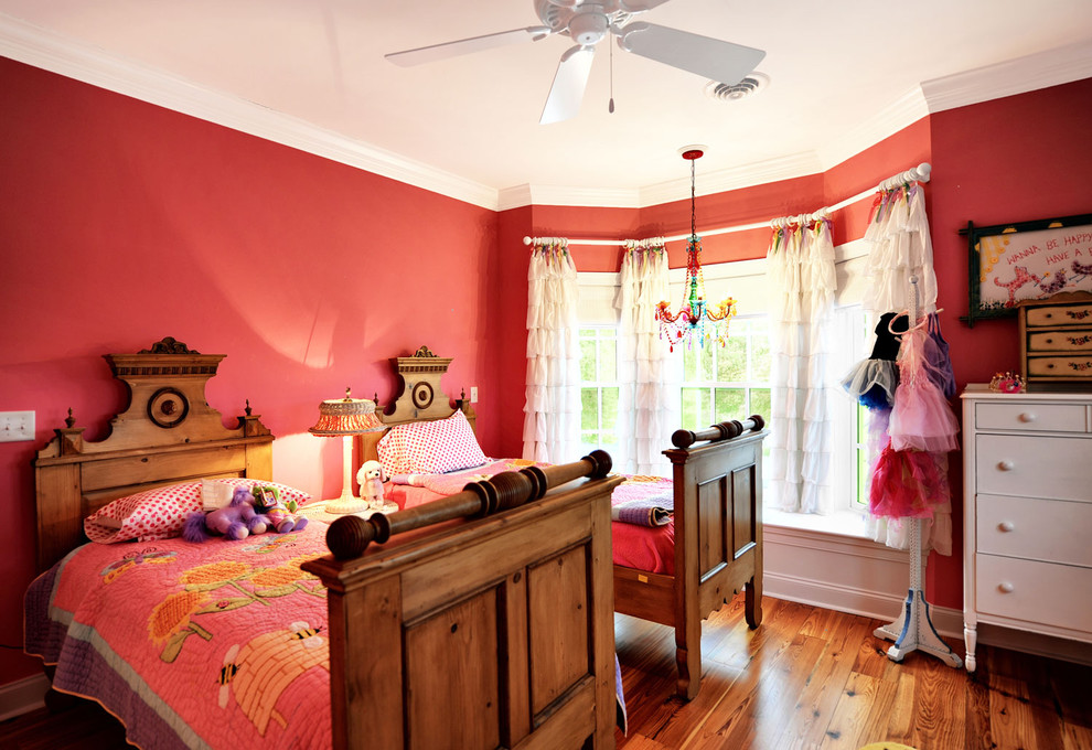 Ruffle Curtains Kids Eclectic with Baseboards Bay Window Bedroom Ceiling Fan Chandelier Curtains Drapes Hat Stand Pink