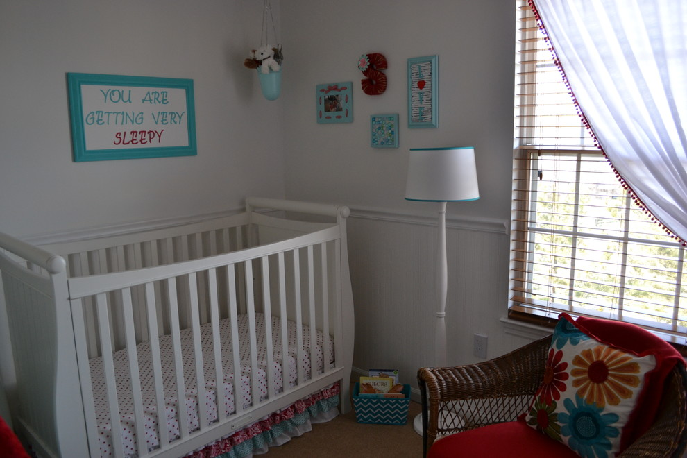 Ruffled Crib Skirt Kids Eclectic with Display of Baby Clothes Ruffled Crib Skirt Turquoise and Red Nursery White