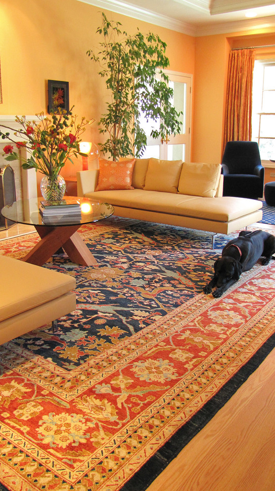 Rug Pads Living Room Contemporary with Autumn Chaise Dog Modern Coffee Table Modern Sofa Oriental Rug Round Coffee
