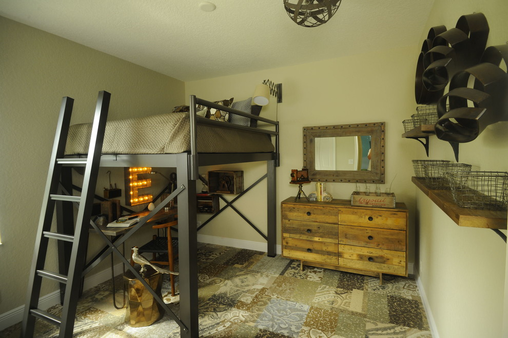 Rustic Dresser Kids Rustic with Boys Room Childrens Room Flor Carpet Tiles Industrial Loft Bed Reclaimed Wood